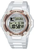 Casio Ladies Baby-G Alarm Chronograh Digital Watch BG-3000-7A White / Gold